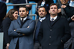 Khaldoon Al Mubarak and Ferran Soriano during the Barclays Premier League match at Old Trafford. Photo credit should read: Philip Oldham/Sportimage