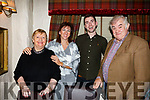 Nolene McDaid celebrating 40th birthday in Cassidys with her family on Saturday night last. L-r, Francis Harnett, Birthday girl Nolene McDaid, Dermot Harnett and Richard Harnett.