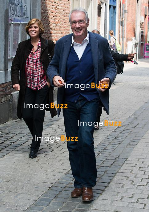 Bernard Le Coq assiste &agrave; la 8&egrave;me &eacute;dition du Festival International du Film Policier de Li&egrave;ge.<br /> Belgique, Li&egrave;ge, 24/04/14