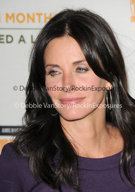 Courteney Cox at The Rock a Little ,Feed a lot benefit concert to support the L.A. Regional Food Bank & Feeding America held at Club Nokia in Los Angeles, California on September 29,2009                                                                   Copyright 2009 DVS / RockinExposures