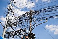 Tangle of powerlines, Shanghai, China