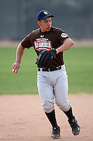 January 17, 2010:  Luc Pomales (Bakersfield, CA) of the Baseball Factory Mountain Team during the 2010 Under Armour Pre-Season All-America Tournament at Kino Sports Complex in Tucson, AZ.  Photo By Mike Janes/Four Seam Images