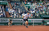 7th June 2017, Roland Garros, Paris, France; French Open tennis championships;  Andy Murray (GBR) during his 4 set win over Nishikori  (Japan)