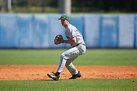 Dartmouth Big Green shortstop Nate Ostmo (5) during a game against the Bradley Braves on March 21, 2019 at Chain of Lakes Stadium in Winter Haven, Florida.  Bradley defeated Dartmouth 6-3.  (Mike Janes/Four Seam Images)