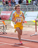 Kickapoo senior Ian Frazier runs in the Class 4 3200 meters on his way to a 12th place finish in 9:48 at the Missouri High School Class 3-4 State Track and Field Championships in Jefferson City, Saturday, May 25, 2013.
