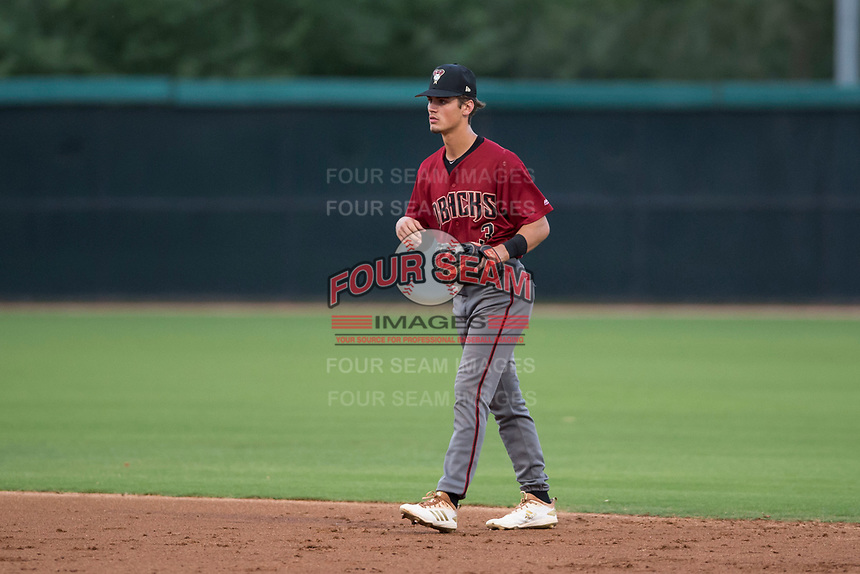 AZL Diamondbacks second baseman Blaze Alexander (3) during an Arizona League game against the AZL White Sox at Camelback Ranch on July 12, 2018 in Glendale, Arizona. The AZL Diamondbacks defeated the AZL White Sox 5-1. (Zachary Lucy/Four Seam Images)