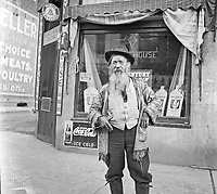 "John Perrett, also known as ""Potato Creek Johnny"" on the street in Deadwood, SD, circa 1930's.   (photo: www.bcpix.com)"