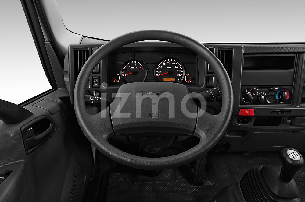 Car pictures of steering wheel view of a 2019 Isuzu N-Serie Base 2 Door Pick Up