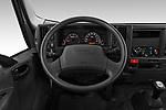 Car pictures of steering wheel view of a 2019 Isuzu N-Serie Base 2 Door Pick Up