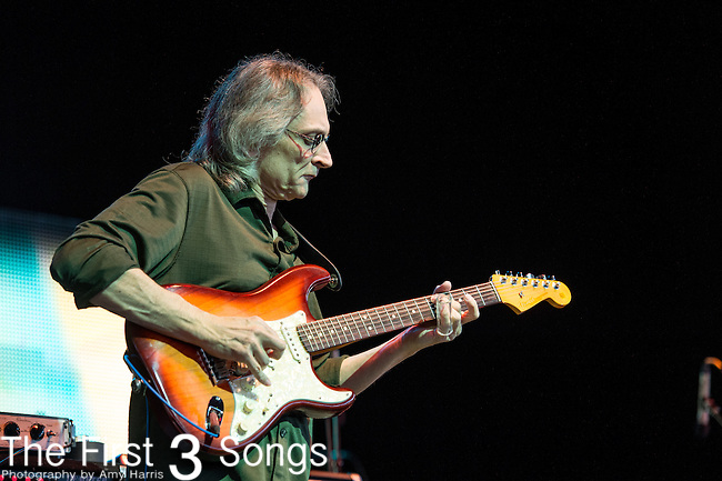 Sonny Landreth performs during the Frampton's Guitar Circus at Riverbend Music Center in Cincinnati, Ohio.