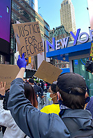 George Floyd Protest On Times Square