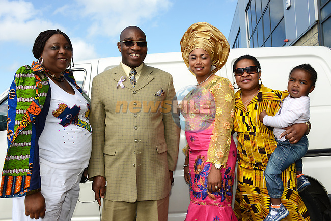 Jemima Sackey, Pastor Daniel Sackey, Chioma Obama, Nkechi Oduah and Crystal Dele at the tenth anniversary celebrations of the Drogheda Erzinwanne Association. Photo: Andy Spearman.