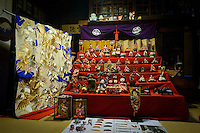 Dolls on display in a Machiya, Murakami-city, Niigata Prefecture, Japan, February 4, 2013. The snowy city in Northern Japan is famous for hot-springs, tea and salt salmon.
