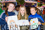 Ciara Gleeson, Breda kelliher and Jillian Courtney Killarney at the Birds amusements art competition on Saturday