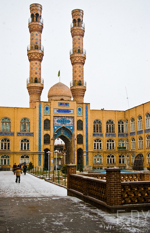 Tabriz's friday mosque under the snow (Iran).