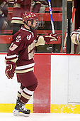 Cam Atkinson (BC - 13) - The Boston College Eagles defeated the Harvard University Crimson 3-2 on Wednesday, December 9, 2009, at Bright Hockey Center in Cambridge, Massachusetts.