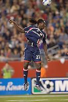 New England Revolution midfielder Shalrie Joseph (21). The New England Revolution defeated the Colorado Rapids, 1-0, at Gillette Stadium in Foxboro, MA on September 29, 2007.