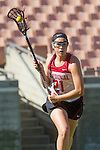 Los Angeles, CA 04/22/16 - Kelsey Murray (Stanford #21) in action during the NCAA Stanford-USC Division 1 women lacrosse game at the Los Angeles Memorial Coliseum.  USC defeated Stanford 10-9/