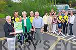 CHARITY CYCLE: Memeber's of Castleisland Day Care Centre committee and Currow Cycling Club launching their Annaul Fun Cycle and Walk to be held on Sunday 4th of September cycle commences at 10:00pm and the walk commences at 12:00 noon front l-r: Maxi Fleming, Tom Barrett, Monica Prendiville, Tom Kenny and Donal Nelligan. Back l-r: Nora Hogan, Joan Walsh, John Prender, Marie McCarthy, Rita McCarthy, Brendan McCarty, Catriona O'Connor and Martina O'Donoghue.