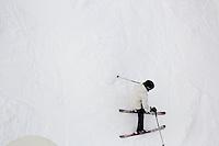 People ski at Showdown Ski Area on King's Hill in the Little Belt Mountains near Neihart, Montana, USA.