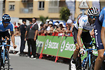 Movistar Team with World Champion Alejandro Valverde (ESP) recon Stage 1 of La Vuelta 2019, a team time trial running 13.4km from Salinas de Torrevieja to Torrevieja, Spain. 24th August 2019.<br /> Picture: Eoin Clarke | Cyclefile<br /> <br /> All photos usage must carry mandatory copyright credit (© Cyclefile | Eoin Clarke)