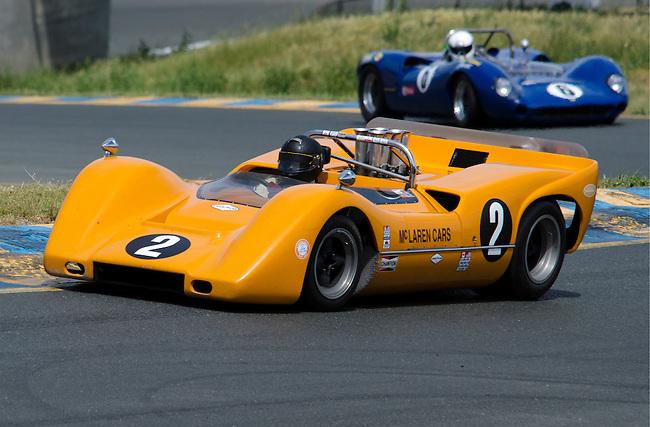 McLaren M6B leads the Lola T-70