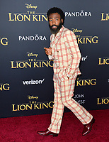"LOS ANGELES, USA. July 10, 2019: Donald Glover at the world premiere of Disney's ""The Lion King"" at the Dolby Theatre.<br /> Picture: Paul Smith/Featureflash"