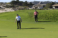 Chris Stroud (USA) putts on the 4th green at Spyglass Hill during Thursday's Round 1 of the 2018 AT&amp;T Pebble Beach Pro-Am, held over 3 courses Pebble Beach, Spyglass Hill and Monterey, California, USA. 8th February 2018.<br /> Picture: Eoin Clarke | Golffile<br /> <br /> <br /> All photos usage must carry mandatory copyright credit (&copy; Golffile | Eoin Clarke)