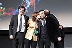 Producer Fernando Bovaira, actors Ana Torrent and Karra Elejalde and the director Alejandro Amenabar during Spanish Cinema Gala at 64 Seminci Cinema Festival. October 22,2019. (ALTERPHOTOS/IVAN TOME)