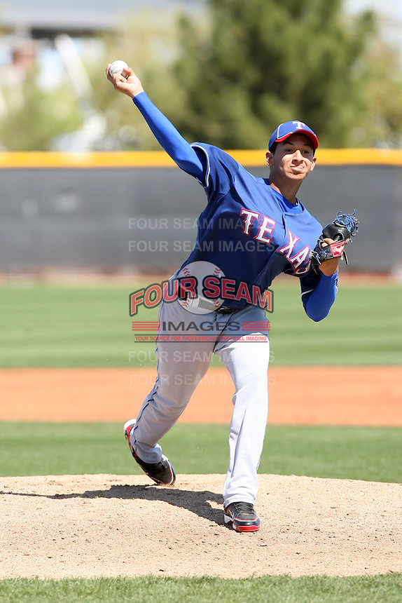 Richard Alvarez, Texas Rangers minor league spring training..Photo by:  Bill Mitchell/Four Seam Images.