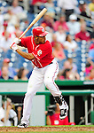 23 September 2010: Washington Nationals outfielder Justin Maxwell in action against the Houston Astros at Nationals Park in Washington, DC. The Nationals defeated the Astros 7-2 for their third consecutive win, taking the series three games to one. Mandatory Credit: Ed Wolfstein Photo