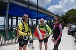 Blue Heron Bridge wide angle. Susan Gardner, Elaine Blum, Joanie Engleman Tomlin get ready to dive