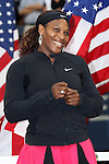 11.09.2011, Flushing Meadows, New York, USA, WTA Tour, US Open, Finale im einzel der Damen, im Bild SERENA WILLIAMS (USA) // during WTA Tour US Open tennis tournament at Flushing Meadows, women singles final, New York, USA on 11/09/2011. EXPA Pictures © 2011, PhotoCredit: EXPA/ Newspix/ Marek Janikowski +++++ ATTENTION - FOR AUSTRIA/(AUT), SLOVENIA/(SLO), SERBIA/(SRB), CROATIA/(CRO), SWISS/(SUI) and SWEDEN/(SWE) CLIENT ONLY +++++