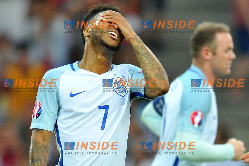 Raheem Sterling Dejection Delusione <br /> Marseille 11-06-2016 Stade Velodrome football Euro2016 England - Russia  / Inghilterra - Russia Group Stage Group B. Foto Philippe Lecoeur / Panoramic / Insidefoto <br /> ITALY ONLY