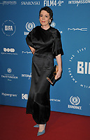 Olivia Colman at the British Independent Film Awards (BIFA) 2018, Old Billingsgate Market, Lower Thames Street, London, England, UK, on Sunday 02 December 2018.<br /> CAP/CAN<br /> &copy;CAN/Capital Pictures