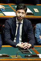 Minister of Wealth Roberto Speranza<br /> Rome September 9th 2019. Lower Chamber. Programmatic speech of the new appointed Italian Premier at the Chamber of Deputies to explain the program of the yellow-red executive. After his speech the Chamber is called to the trust vote at the new Government. <br /> Foto  Samantha Zucchi Insidefoto