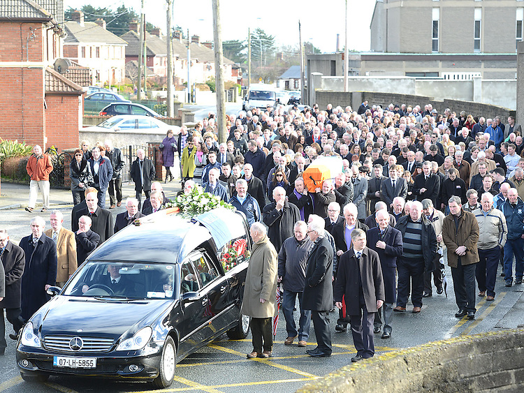 The funeral of Jimmy Mulroy. Photo:Colin Bell/pressphotos.ie