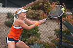 April 23, 2015; San Diego, CA, USA; Pepperdine Waves tennis player Laura Gulbe during the WCC Tennis Championships at Barnes Tennis Center.
