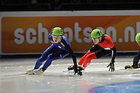 SCHAATSEN: DORDRECHT: Sportboulevard, Korean Air ISU World Cup Finale, 11-02-2012, Jinkyu Noh KOR (54), Patrick Duffy CAN (11), ©foto: Martin de Jong