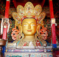 Gold painted Budha, Thikse Monastery, Ladakh, India