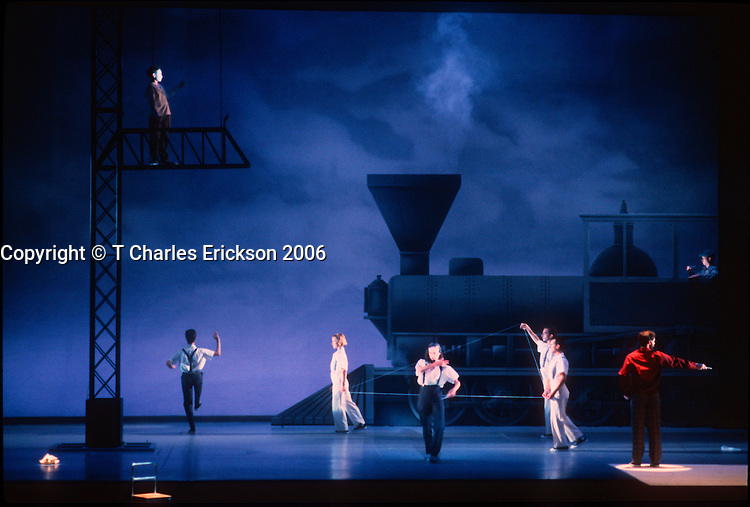 Einstein On The Beach, by Robert Wilson, world tour 7/92, McCarter Theatre.Photo Credit: T Charles Erickson ..