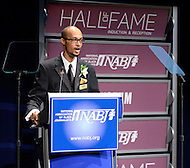 January 26, 2012  (Washington, DC)  Gregory Lee, Jr., President of the National Association of Black Journalists (NABJ), speaks at the 2012 Hall of Fame Induction Ceremony at the Newseum in Washington.  (Photo by Don Baxter/Media Images International)