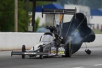 May 10, 2013; Commerce, GA, USA: NHRA top fuel dragster driver David Grubnic during qualifying for the Southern Nationals at Atlanta Dragway. Mandatory Credit: Mark J. Rebilas-