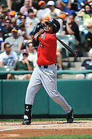 Erie SeaWolves outfielder Daniel Fields (7) during game against the Trenton Thunder at ARM & HAMMER Park on May 29 2013 in Trenton, NJ.  Trenton defeated Erie 3-1.  Tomasso DeRosa/Four Seam Images