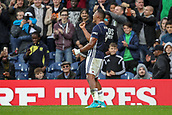 30th September 2017, The Hawthorns, West Bromwich, England; EPL Premier League football, West Bromwich Albion versus Watford; José Salomón Rondón of West Bromwich Albion celebrates scoring the opening goal for West Bromwich Albion in the 18th minute