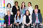 Presentation of QQI Component Certs in Manual and Computerised Accounts and Health Care Support in the Killarney Community College last Friday. Pictured are front Tom Looney (Retired Dicrctor of Adult Education), Karina Gapsevicute, Colette Casey and John Keane (Director of Adult Education, back l-r Olga Sadowska, Sandra Osula, Tara O'Donogue and Rudo Chitseko.