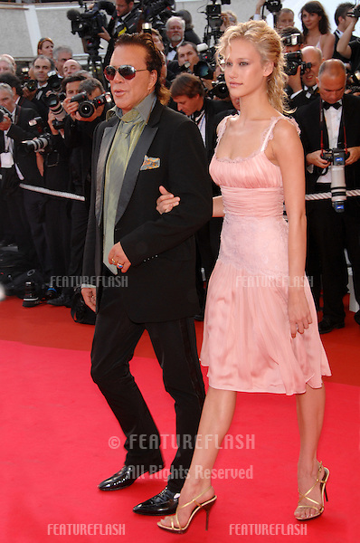 """Mickey Rourke & Christine Myers at world premiere for """"Ocean's Thirteen"""" at the 60th Annual International Film Festival de Cannes..May 24, 2007  Cannes, France..© 2007 Paul Smith / Featureflash"""