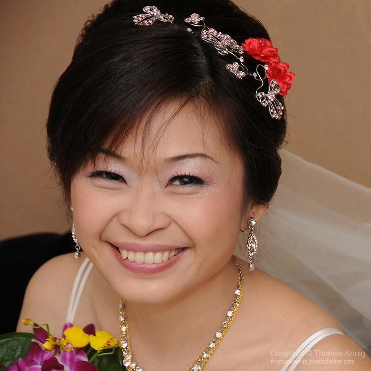 Taiwanese Wedding -- The happy bride.