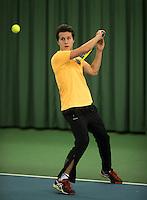 Rotterdam, Netherlands, Januari 28, 2017, ABNAMROWTT, Clubkampioenen, Michiel Greidanus/Theirry Kolb<br /> Photo: Tennisimages/Henk Koster