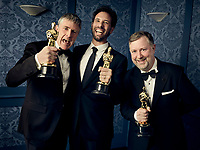 Oscar® winners Dominic Tuohy, Guillaume Rocheron and Greg Butler during the 92nd Oscars® on Sunday, February 9, 2020 at the Dolby Theatre® in Hollywood, CA, televised live by the ABC Television Network.<br /> *Editorial Use Only*<br /> CAP/AMPAS<br /> Supplied by Capital Pictures